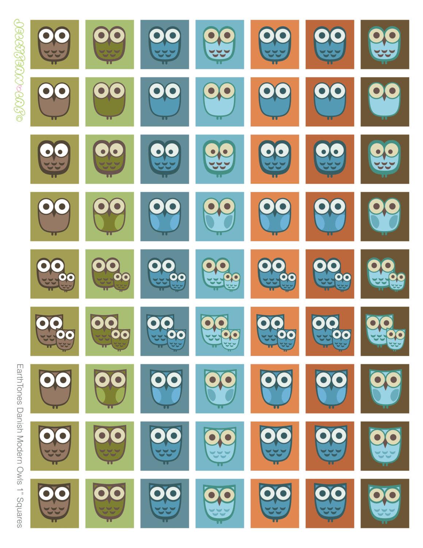 Squares clipart owl Style digital Art squares Digital