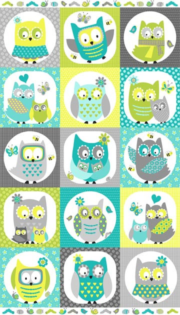 Squares clipart owl Studio Squares Patchwork Whooo Northcott