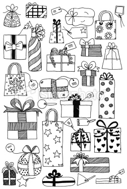Squares clipart plain Sheet squares/rectangles with Gift