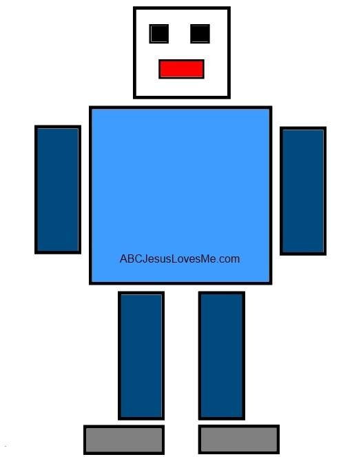 Squares clipart robot ABC example the not she