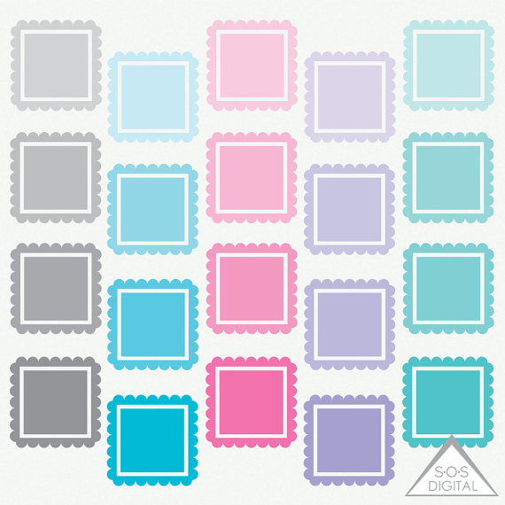 Squares clipart small SOSDigital teal from Square Frame