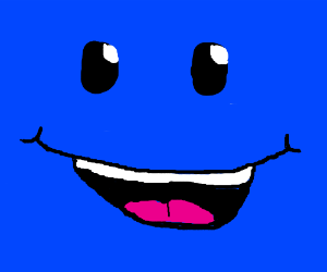 Square clipart smiley face Face smiley smiley square blue