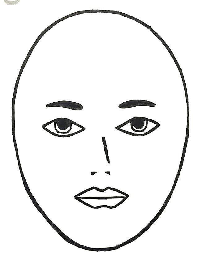 Squares clipart square face Shape: Face or Long Oval?: