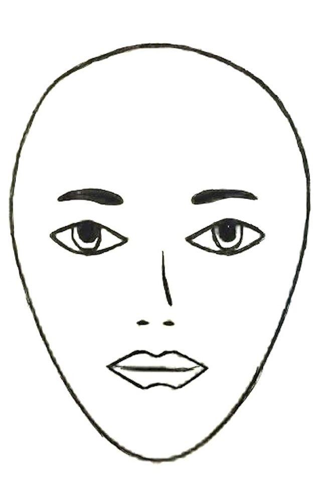 Squares clipart square face Round Shape: Face Julianne