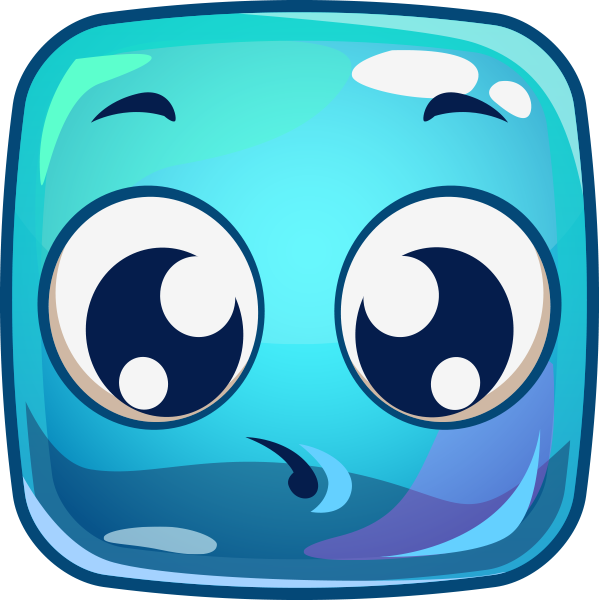 Squares clipart square face Face Blue faces and Square