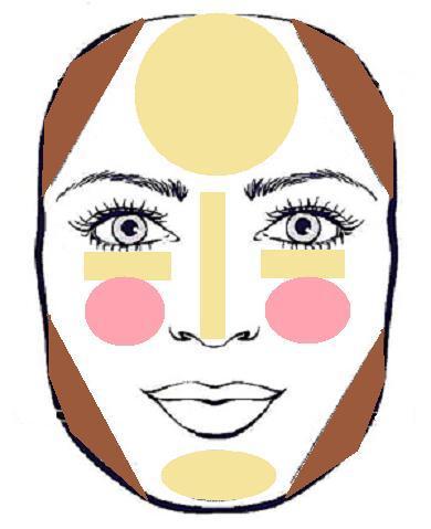 Squares clipart square face Square (390×479) jpg contouring+(1) face