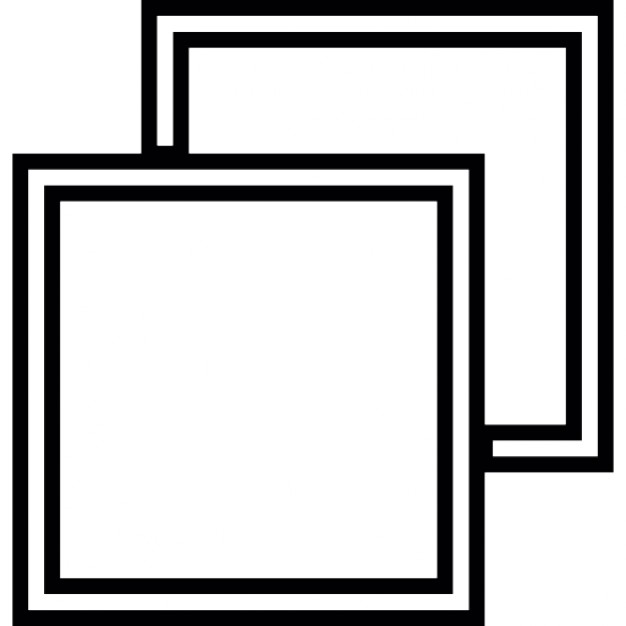 Squares clipart square outline Free Two Download Free square