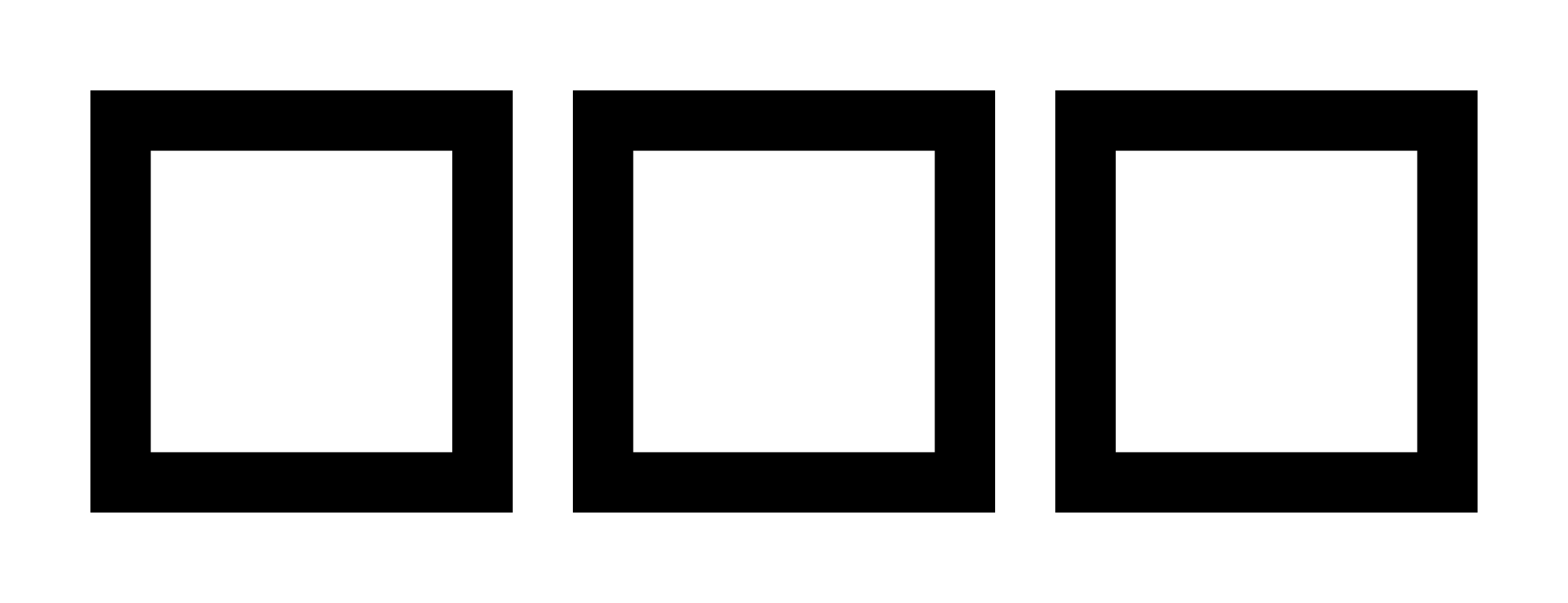 Squares clipart square outline Svg Open Outline File:Three Wikimedia