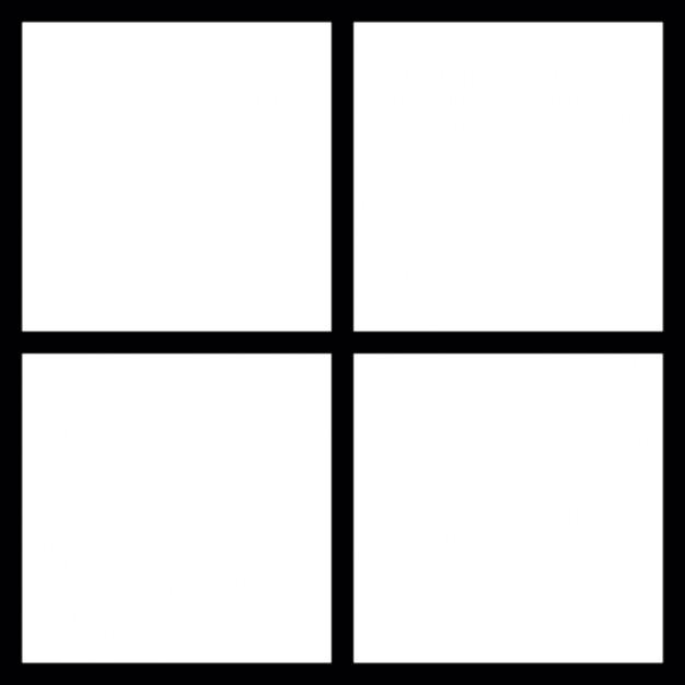 Squares clipart square outline Squares Square divided parts Square
