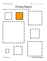Squares clipart square shaped object Drawing Worksheet and Worksheets Drawing