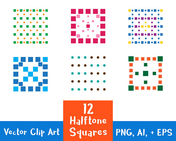 Squares clipart square thing  Dotted AI Graphics Clipart