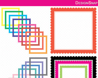 Squares clipart square thing Scallop Etsy Digital Squares Art