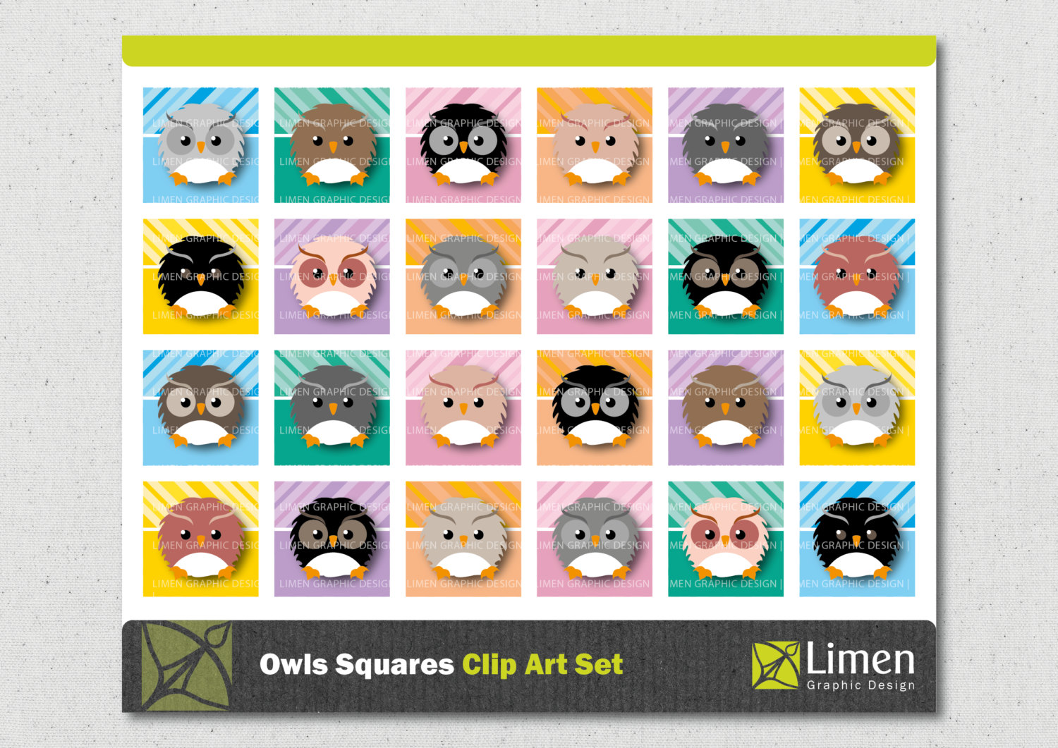 Squares clipart square thing Owl Buttons Clip Owl This