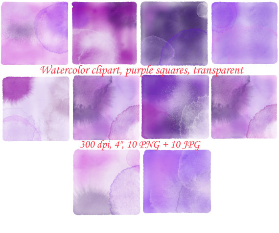 Squares clipart violet Purple from squares watercolor watercolor