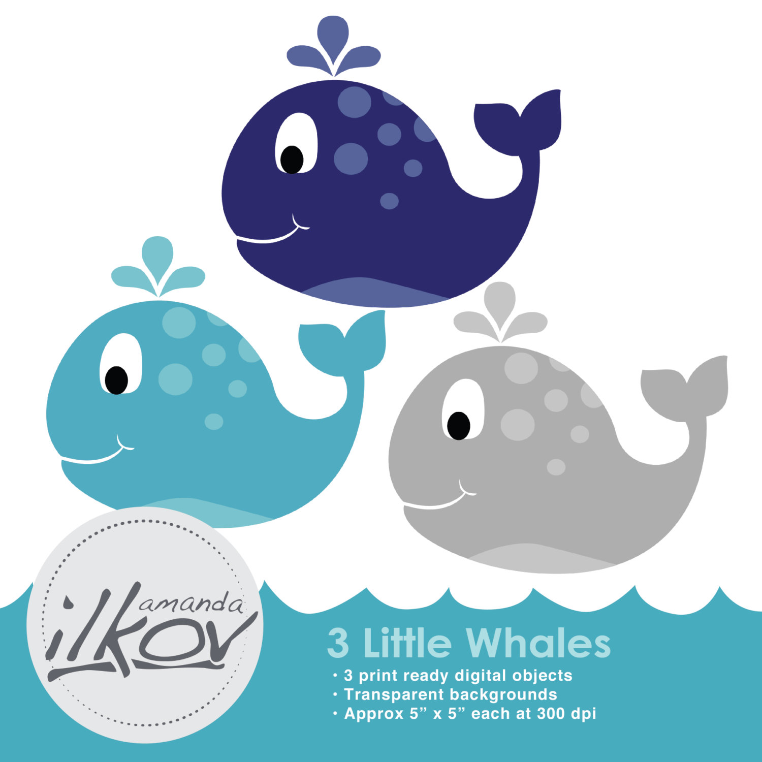 Mother And Baby clipart whale Baby and Premium Clipart Digital