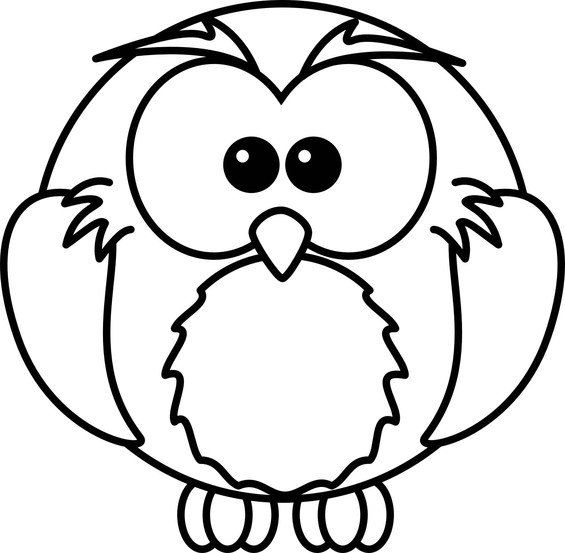 Owlet clipart black and white Images Log Clipart Free Panda