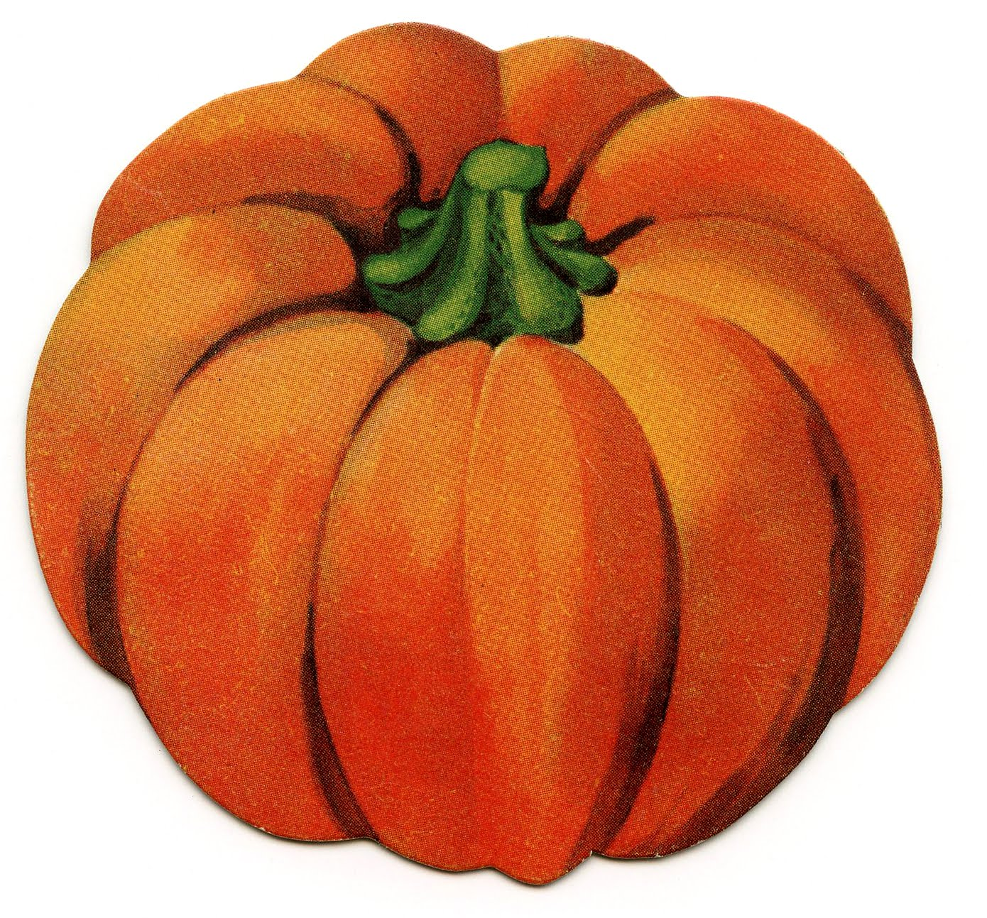 Drawn pumpkin vintage Clip graphics Vintage com pdclipart