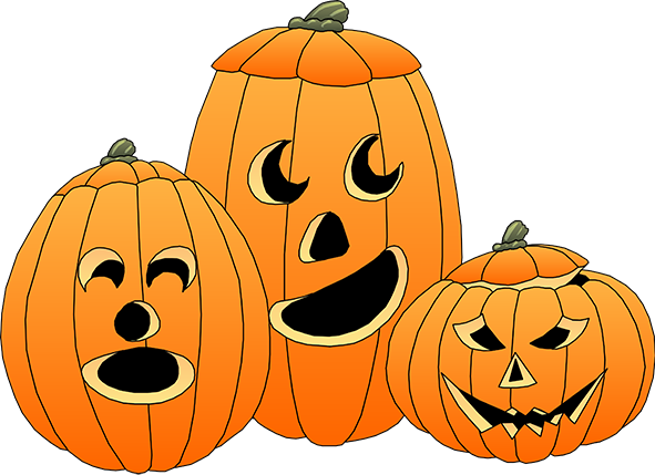 Carvings clipart kid Clipart three Happy Halloween Halloween