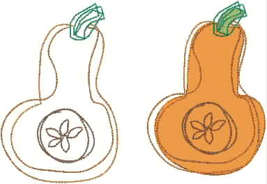 Squash clipart outline Butternut Designs Picture Scribbled Meringue