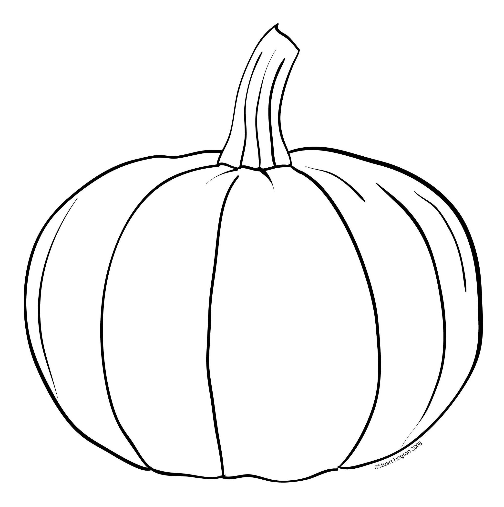 Drawn pumpkin color Outline Pumpkin Free Images Simple