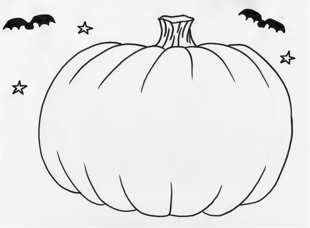 Drawn pumpkin blank Pumpkins Kids Coloring For Pages