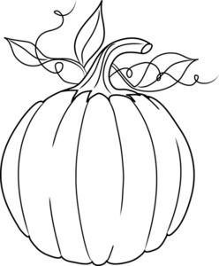 Drawn pumpkin kalabasa Clipart Clipart White Outline