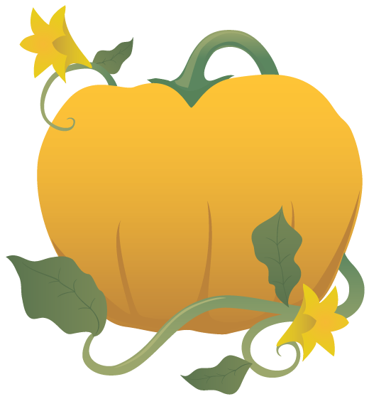Squash clipart pumpkin vine Panda And Pumpkin  Vines