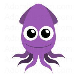 Blur clipart squid Com from UNDERWATER com Clip