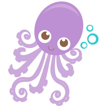 Shadow clipart octopus #8