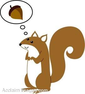 Acorn clipart brown squirrel  Art Clipart Clipart Squirrel