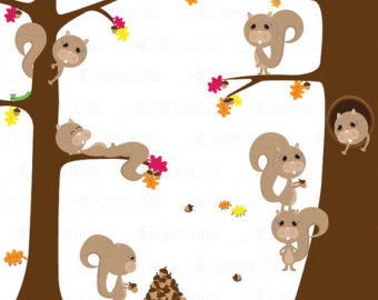 Tree clipart squirrel #7