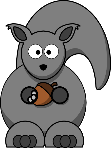 Nut clipart grey squirrel As: Clker at art Grey