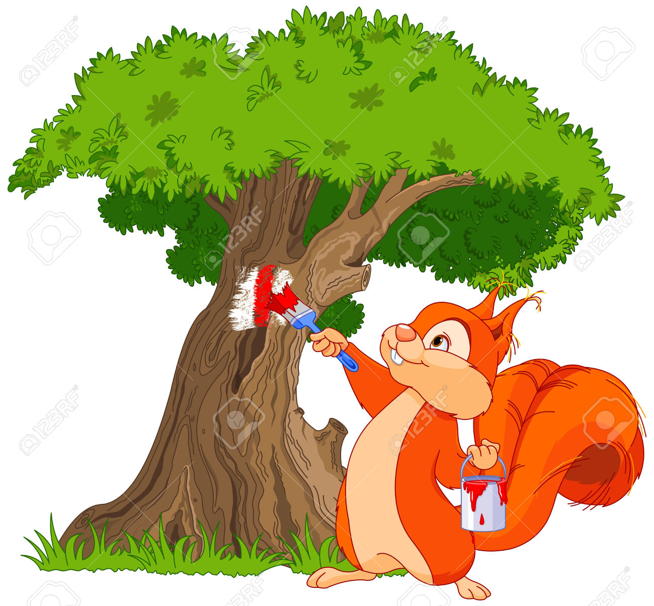 Tree clipart squirrel #8