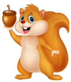 Red Squirrel clipart snow white #1
