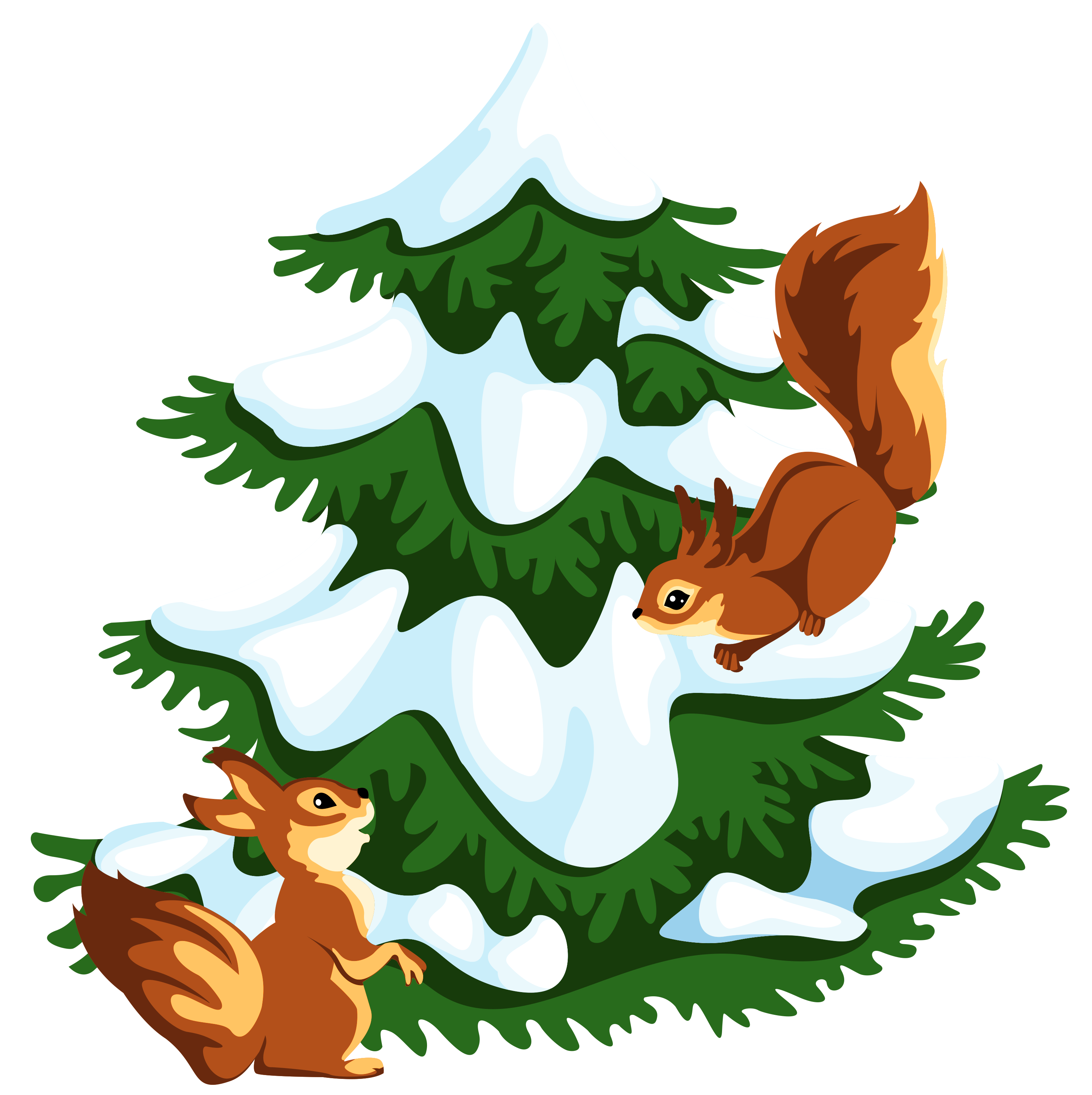 Tree clipart squirrel #13