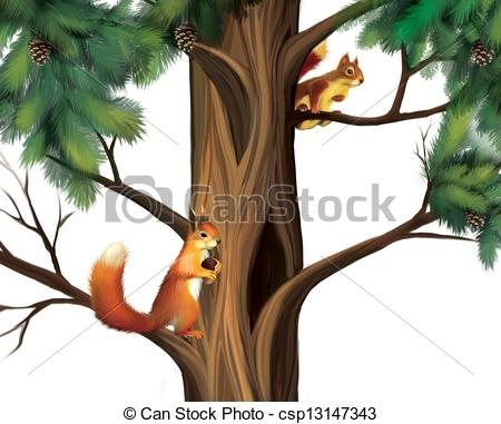 Tree clipart squirrel #9