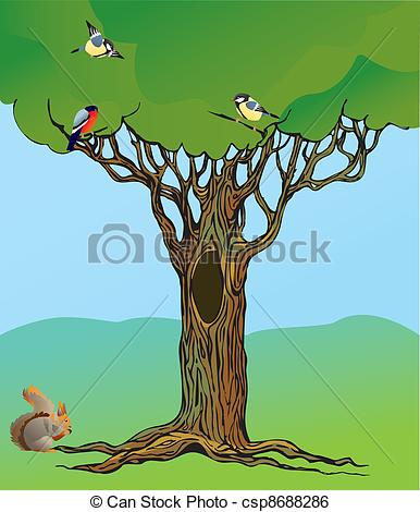 Tree clipart squirrel #11