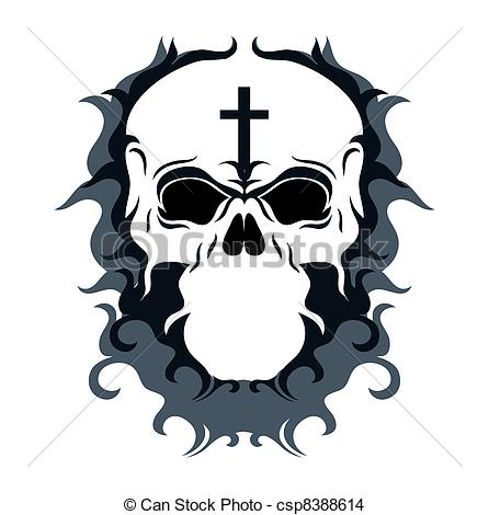 Ssckull clipart abstract Art csp8388614 EPS Skull Vector