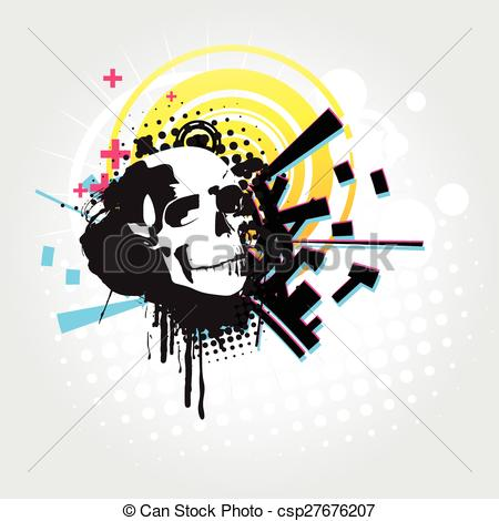 Ssckull clipart abstract Art vector art  art