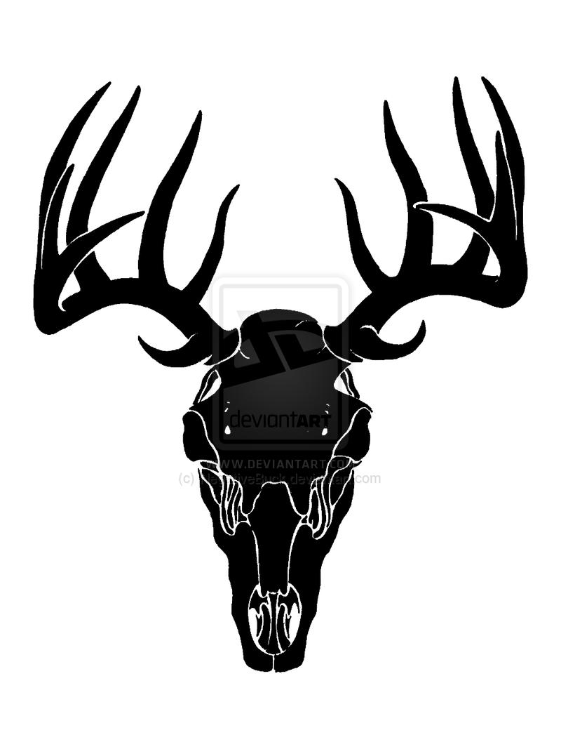 Buck clipart deer skull Deer Clip Images Art Skull