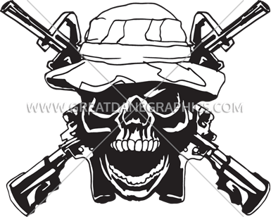 Ssckull clipart army Army Ready T Production Printing