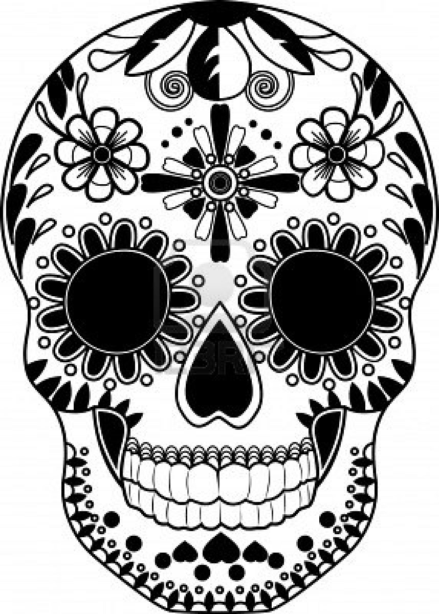 Sugar Skull clipart pattern Ideas Skulls Pesquisa  and