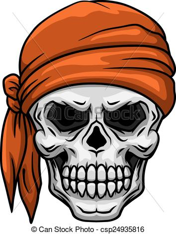 Ssckull clipart bandana Bandana Clip skull Vector of
