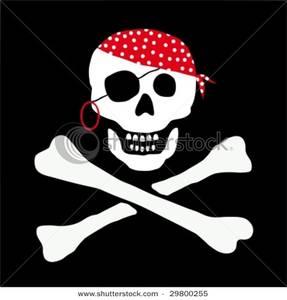 Ssckull clipart bandana Bandana Bandana a Pirate a