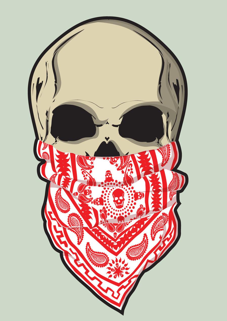 Ssckull clipart bandana Bandana and on skull by