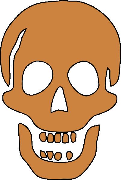 Ssckull clipart basic Brown Download vector Skull Clker