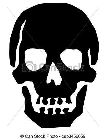 Ssckull clipart basic  Skull Clipart Black