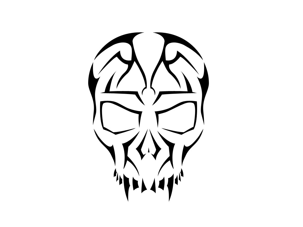 Ssckull clipart basic Tribal Tribal skull clipart tattoo
