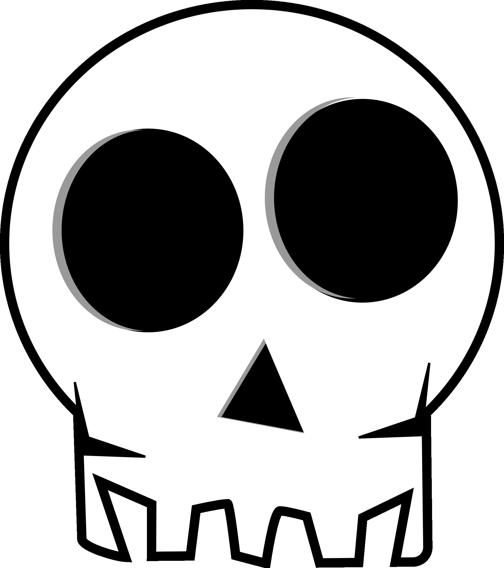 Sleleton clipart coloring page Clip The Skull Skull Art