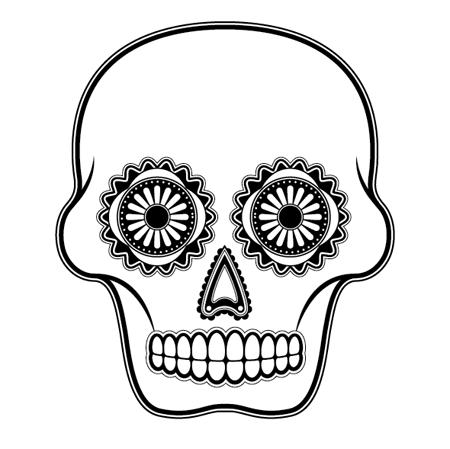 Sugar Skull clipart outline Skull Art Clip Simple Cliparts